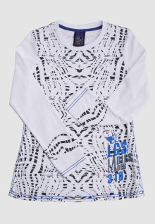 Regular Fit - Ladies T-Shirt - White - Polkadot