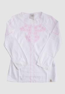 Regular Fit - Ladies Koko - White - Long Sleeve - Pink Motif