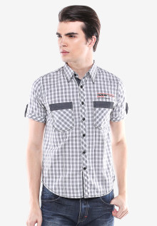 Slim Fit - Casual Active - Putih/Abu - Model Fashion