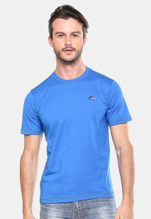 Slim Fit - Kaos Casual - Biru Cerah - Logo LGS