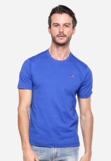 Slim Fit - Kaos Casual - Biru Gelap - Logo LGS