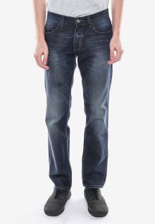 Slim Fit - Jeans Panjang - Biru Navy - Detail Whisker