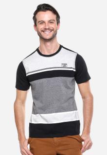 Slim Fit - Kaos Casual - Hitam/Putih/Abu - Logo LGS