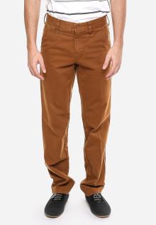 Celana Katun - Coklat Kemerahan - Tampilan Casual - Model Klasik