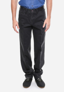Celana Katun - Hitam - Tampilan Casual - Model Klasik