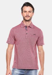 Regular Fit - Kaos Polo - Merah - Bertekstur