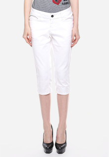 Celana Capri - Putih - Katun
