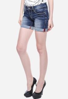 Mini pants - Biru - Aksen Washed - Whisker