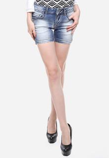 Mini Pants - Biru Washed - Detail Whisker