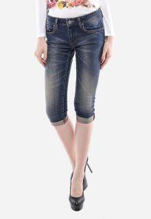 Celana Capri - Biru - Slim Fit - Jeans Premium
