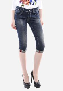 Celana Capri - Biru Abu - Slim Fit - Jeans Premium