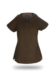 Regular Fit - Wangki - Brown - Salur T-Shirt