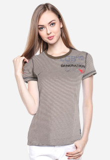 Regular Fit - Kaos Wanita - Abu/Olive - Salur - LGS Ladies