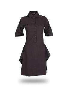 Slim Fit - Ladies Shirt - Dark Brown - Long Shirt