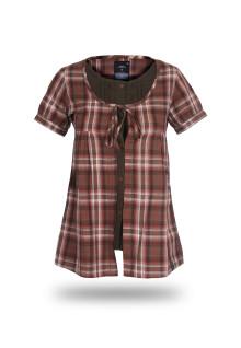 Regular Fit - Ladies Shirt - Red Brown - Fashion