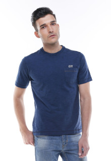 Regular Fit - Kaos Casual - Logo LGS - Biru