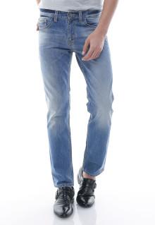 Slim Fit - Jeans Panjang - Premium Washed - Biru