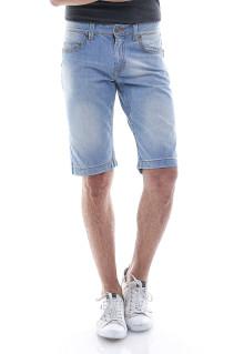 Slim Fit - Jeans Pendek - Biru