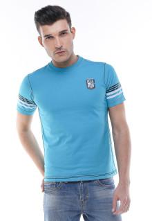 Slim Fit - Kaos Premium - Logo LGS - Biru