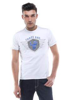 Slim Fit - Kaos Pria - Logo LGS - Putih