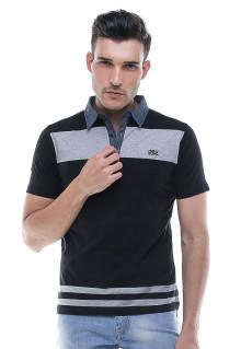 Slim Fit - Kaos Polo - Fashion - Hitam
