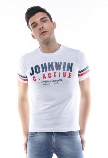 Slim Fit - Kaos Casual - Johnwin Original - Putih