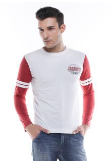 Slim Fit - Kaos Casual - Lengan Panjang - Putih