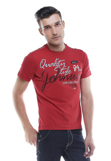 Slim Fit - Kaos Casual Active - Quality Style - Merah