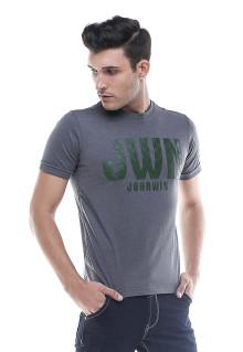 Slim Fit - Kaos Casual - JHW - Abu