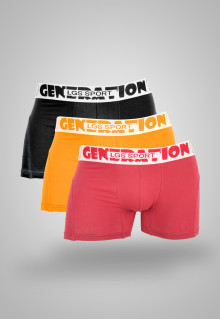 LGS Underwear - Red/Yellow/Black - Boxer - 3 Pcs