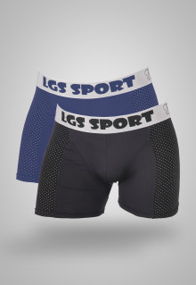 LGS Underwear - Blue/Black - Boxer - 2 Pcs