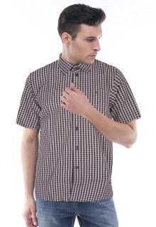 Slim Fit - Kemeja Formal - Hitam/Putih - Gingham