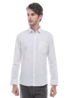Slim Fit  Kemeja Formal  Motif Polos  Putih