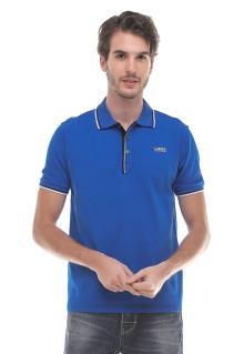 Slim Fit - Kaos Polo - Logo LGS - Biru