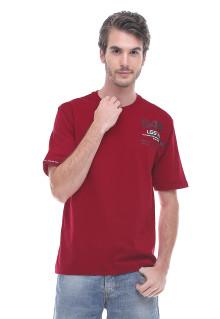 Regular Fit - Kaos Casual - Gambar Sablon - Merah