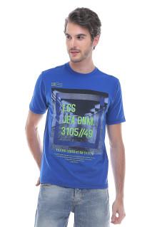 Slim Fit - Kaos Fashion - Jeans Denim - Biru
