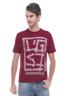 Slim Fit - Kaos Fashion - Sablon LGS - Merah