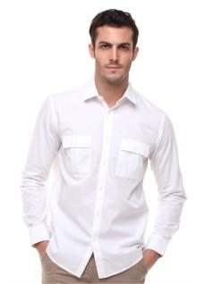 Regular Fit - Kemeja Formal - Lengan Panjang - Putih