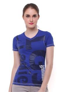 Regular Fit - Kaos Wanita - Biru Gelap - Logo LGS
