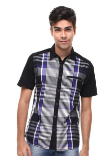 Slim Fit - Fashion Shirt - Motif Kotak - Varias Warna