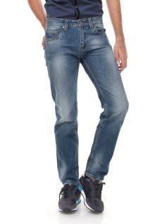 Slim Fit - Jeans Panjang - Washed - Biru