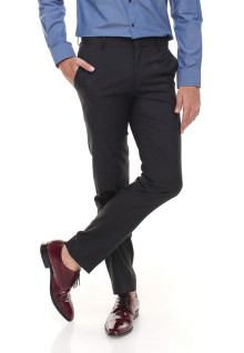 Slim Fit - Celana Formal - Tanpa Biku - Abu