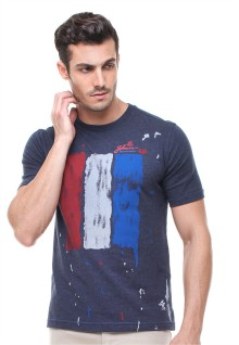 Slim Fit - Kaos Casual Active - Gambar Sablon - Abu