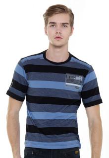 Regular Fit - Stripe Tee - Blue/Black - Strength