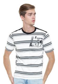 Regular Fit - Stripe Tee - white/Gray - DNM.JNS