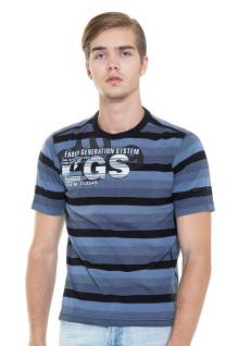 Regular Fit - Stripe Tee - Blue/Black - With Salur Line