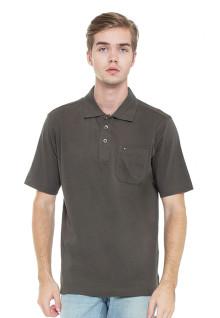 Regular Fit - Kaos Polo - Coklat Tua - Model Basic