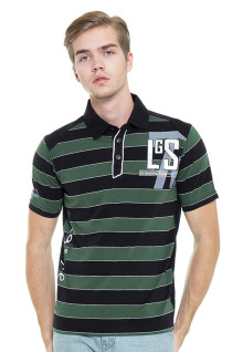 Slim Fit - Polo Shirt - Green/Black - Polo Striped