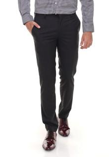 Slim Fit - Celana Formal - Tanpa Biku - Hitam