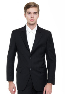 Regular Fit - Formal Suits - Black - Double Button